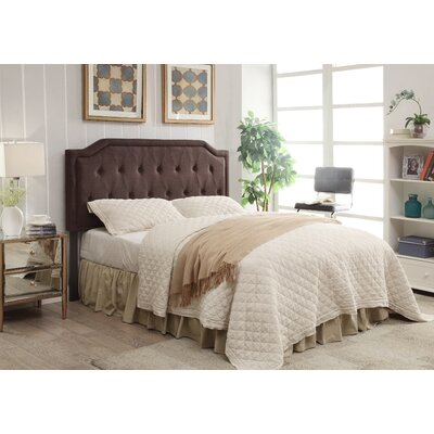 Gainer Upholstered Panel Headboard Upholstery: Chocolate, Size: Twin