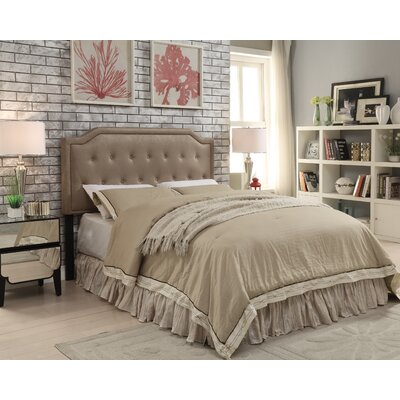 Gainer Upholstered Panel Headboard Upholstery: Taupe, Size: Twin