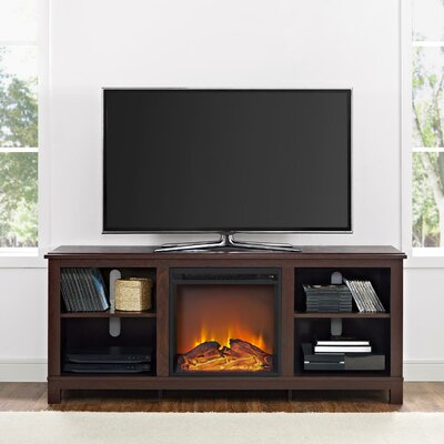Gaither 58 TV Stand with Fireplace Finish: Cherry Espresso