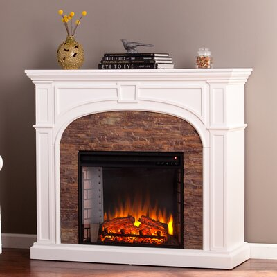 Galentine Stacked Stone Effect Electric Fireplace