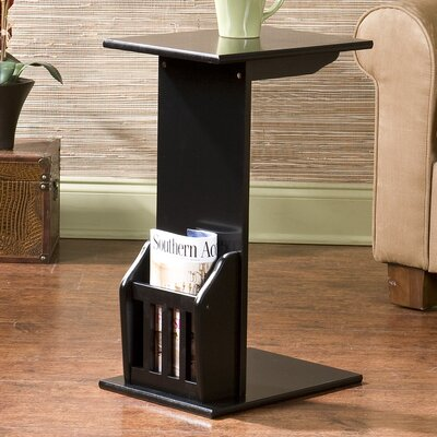 Gammons End Table Finish: Black