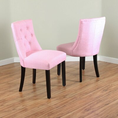 Ganley Side Chair Upholstery: Coral Pink