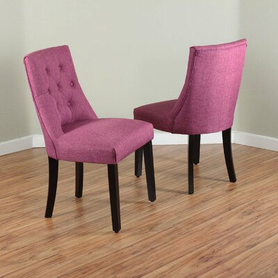 Ganley Side Chair Upholstery: Orchid