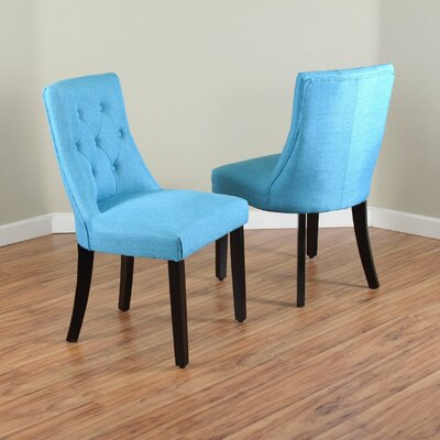 Ganley Side Chair Upholstery: Frost Blue