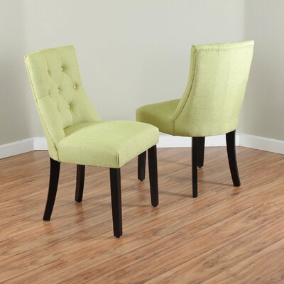 Ganley Side Chair Upholstery: Apple Green