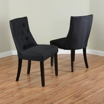 Ganley Side Chair Upholstery: Black