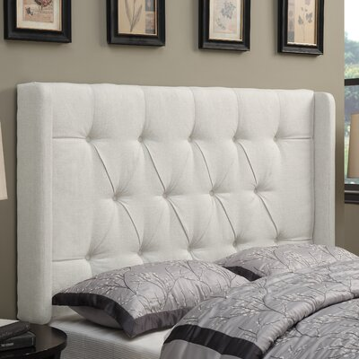 Gardenhire Upholstered Wingback Headboard Upholstery: Linen, Size: King
