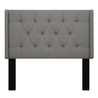 Davina Upholstered Wingback Headboard Size: Queen, Upholstery: Beige