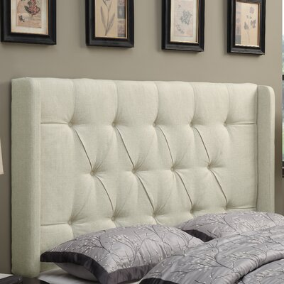 Gardenhire Upholstered Wingback Headboard Upholstery: Beige, Size: King
