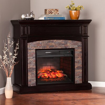 Garmon Boxwood Corner Infrared Media Electric Fireplace
