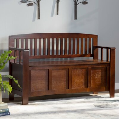 Garrity Wood Storage Entryway Bench