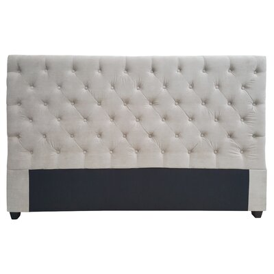 Gaskell Decorative Glam Upholstered Panel Headboard Size: Queen, Upholstery: Cream