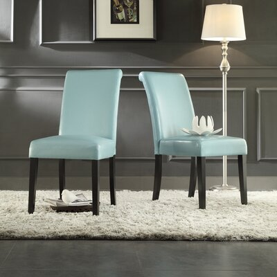 Gault Parsons Chairs Color: Sky Blue