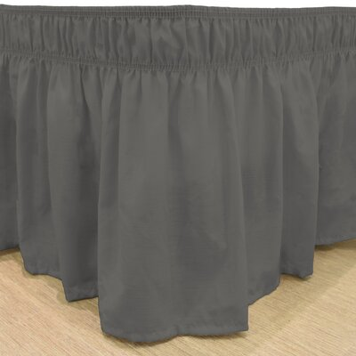 Gearheart Wrap Around Solid Ruffled 140 Thread Count Bed Skirt Color: Charcoal, Size: Queen/King