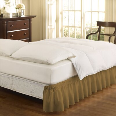 Gearheart Wrap Around Solid Ruffled 140 Thread Count Bed Skirt Color: Gold, Size: Queen/King