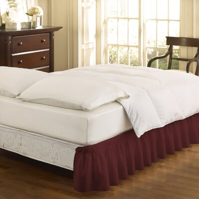 Gearheart Wrap Around Solid Ruffled 140 Thread Count Bed Skirt Size: Twin/Full, Color: Burgundy