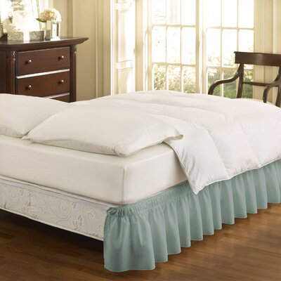 Gearheart Wrap Around Solid Ruffled 140 Thread Count Bed Skirt Color: Spa, Size: Queen/King