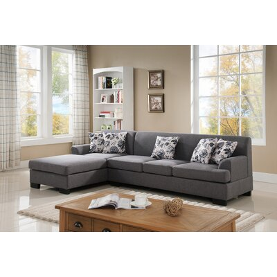Geissler Reversible Sectional Upholstery: Grey