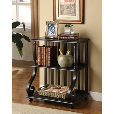 Germain 28 Etagere Bookcase Finish: Black