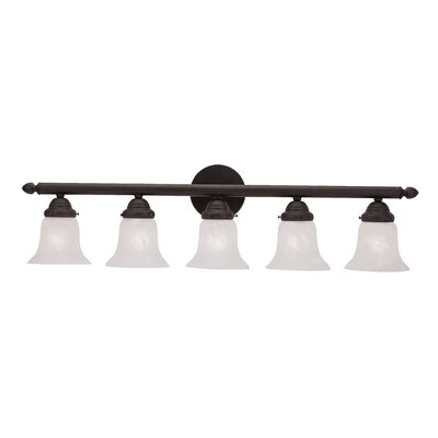 Alcott Hill Hardin 5-Light Vanity Light Finish: Bronze