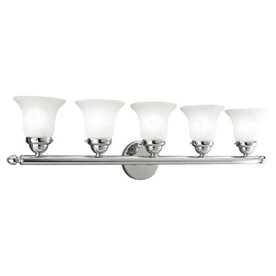 Alcott Hill Hardin 5-Light Vanity Light Finish: Chrome