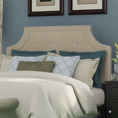 Ottoville Upholstered Panel Headboard Size: King, Upholstery: Navy / White