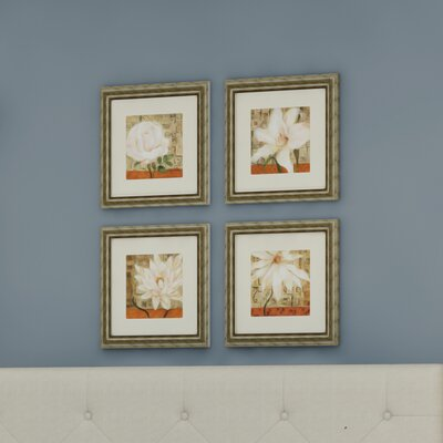 'Opulence' 4 Piece Framed Graphic Art Set