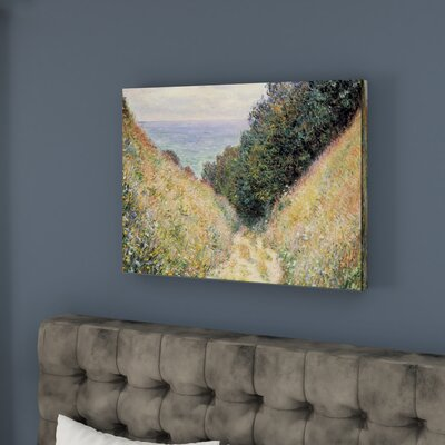 Footpath Framed Painting Print on Canvas
