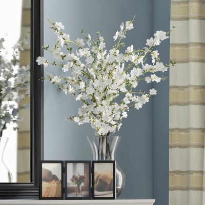 Cherry Blossoms Arrangement with Vase Color: White
