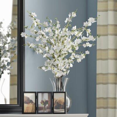 Cherry Blossoms Arrangement with Vase Color: White