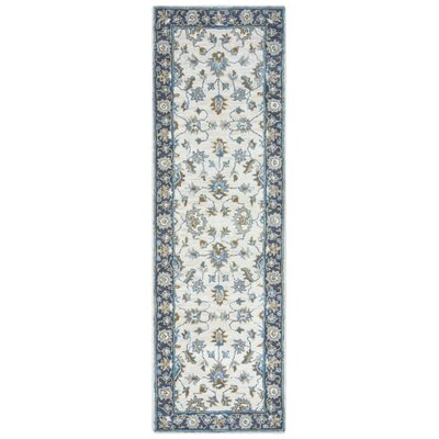 Gillison Hand-Tufted Blue/Beige Area Rug Rug Size: Rectangle 8 x 10