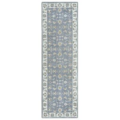 Gillison Hand-Tufted Blue Area Rug Rug Size: Runner 26 x 8