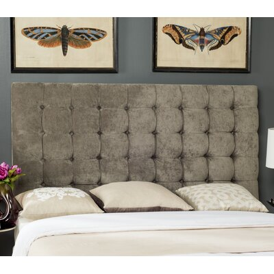 Andrea Woods Upholstered Panel Headboard Size: King