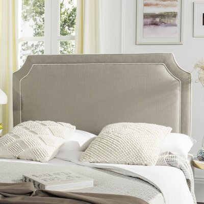 Cloverdale Upholstered Panel Headboard Size: Twin, Color: Gray, Upholstery: Linen
