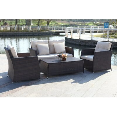 Gilson 4 Piece Deep Seating Group with Cushion
