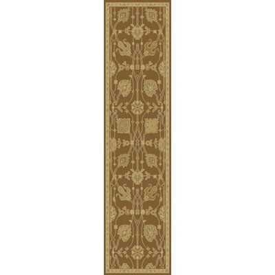 Moffet Brown/Tan Area Rug Rug Size: Runner 26 x 8