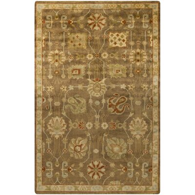 Moffet Brown/Tan Area Rug Rug Size: 56 x 86