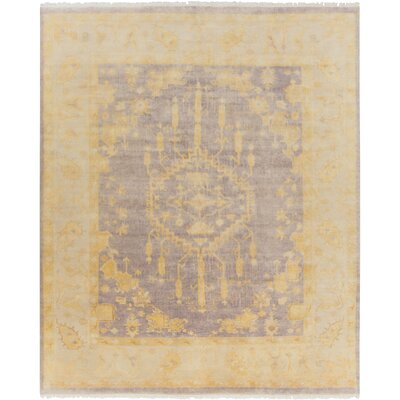 Moline Gold/Gray Area Rug Rug Size: Rectangle 8 x 10