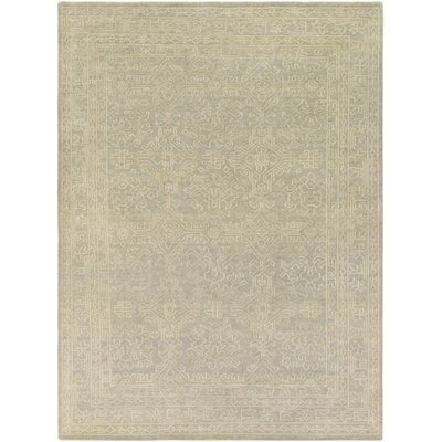 Moriarty Putty White Floral Area Rug Rug Size: 9' x 13'