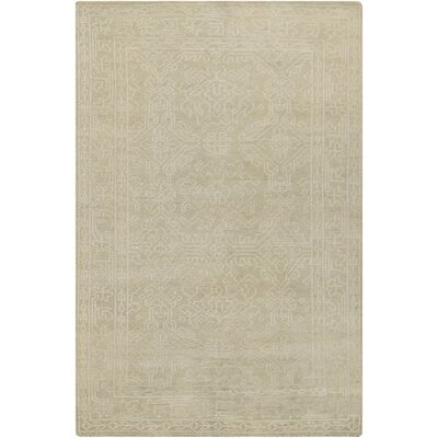 Moriarty Putty White Floral Area Rug Rug Size: 56 x 86