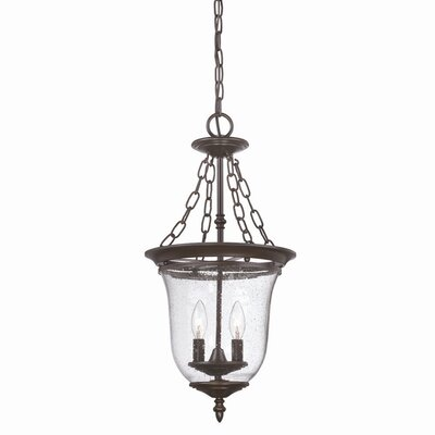 Minden 2-Light Outdoor Pendant Finish: Architectural Bronze