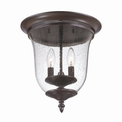 Minden 2-Light Flush Mount Finish: Architectural Bronze