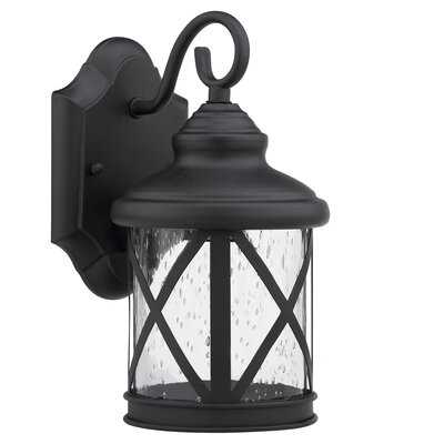 Morley 1-Light Outdoor Wall Lantern Finish: Black