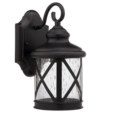 Morley 1-Light Outdoor Wall Lantern Finish: Rubbed Bronze