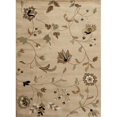 Murphysboro Oriental Beige Area Rug Rug Size: Rectangle 52 x 72