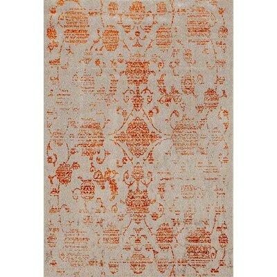 Murphysboro Cream/Orange Indoor/Outdoor Area Rug Rug Size: 52 x 72