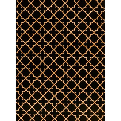 Spaulding Black/Beige Indoor/Outdoor Area Rug Rug Size: 5 x 7