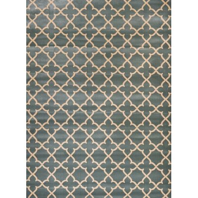 Spaulding Blue/Beige Indoor/Outdoor Area Rug Rug Size: 5 x 7