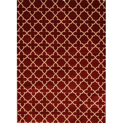 Spaulding Burgundy/Beige Indoor/Outdoor Area Rug Rug Size: 5 x 7