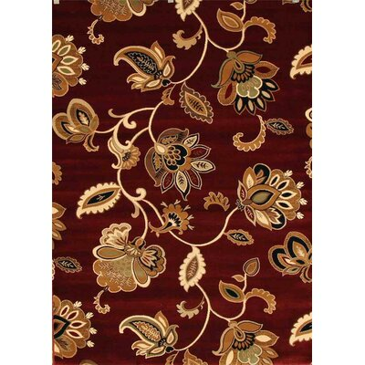 Murphysboro Burgundy Indoor/Outdoor Area Rug Rug Size: 5' x 7'